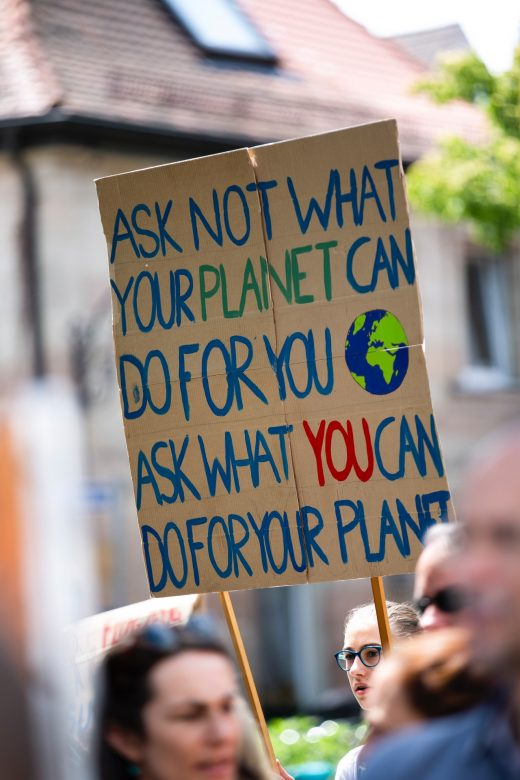 Kinder bei Fridays For Future Demo